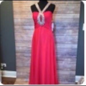 Sherri Hill Style 2675 in Strawberry size 12